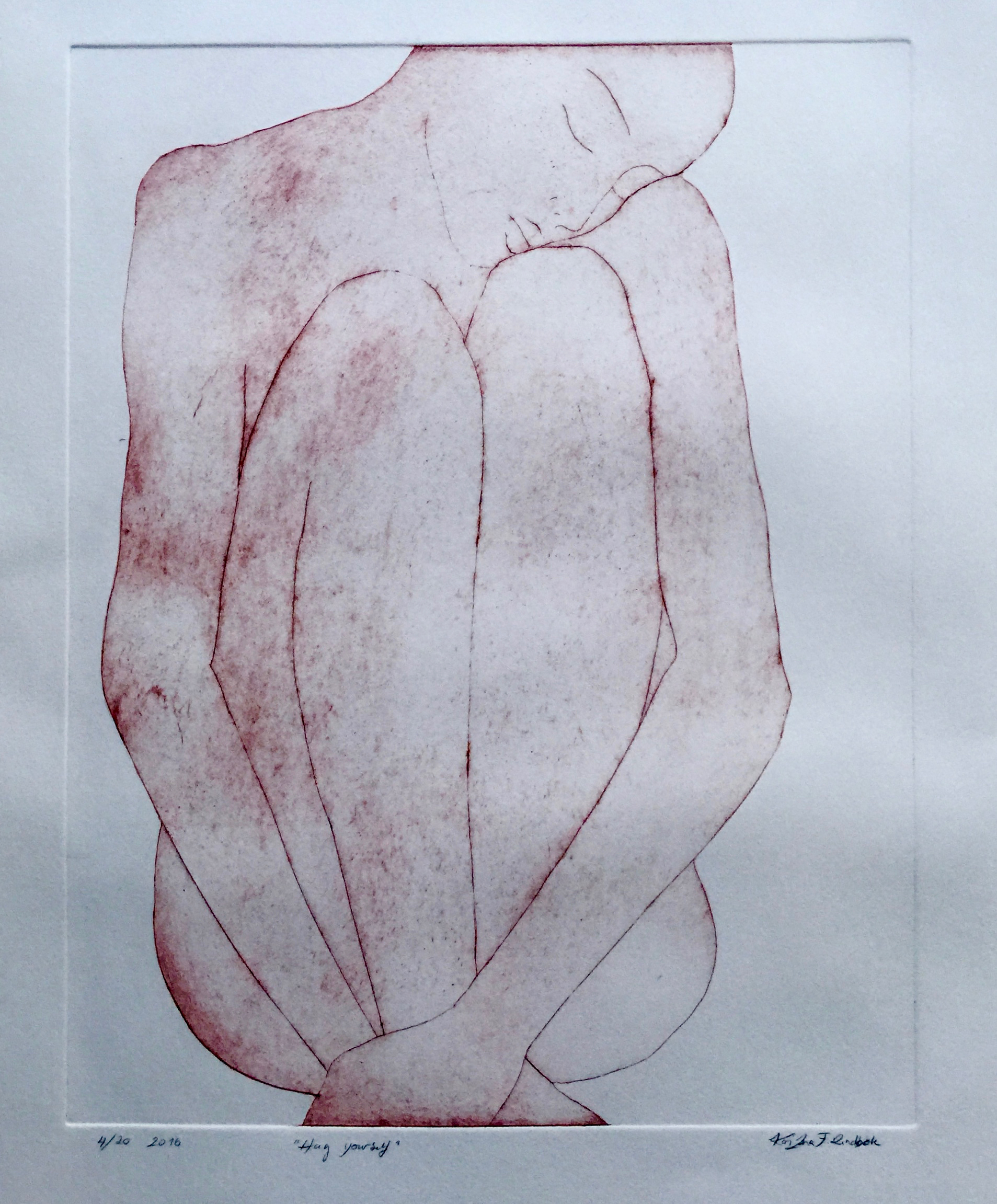 Hug Yourself, 55x75, etching