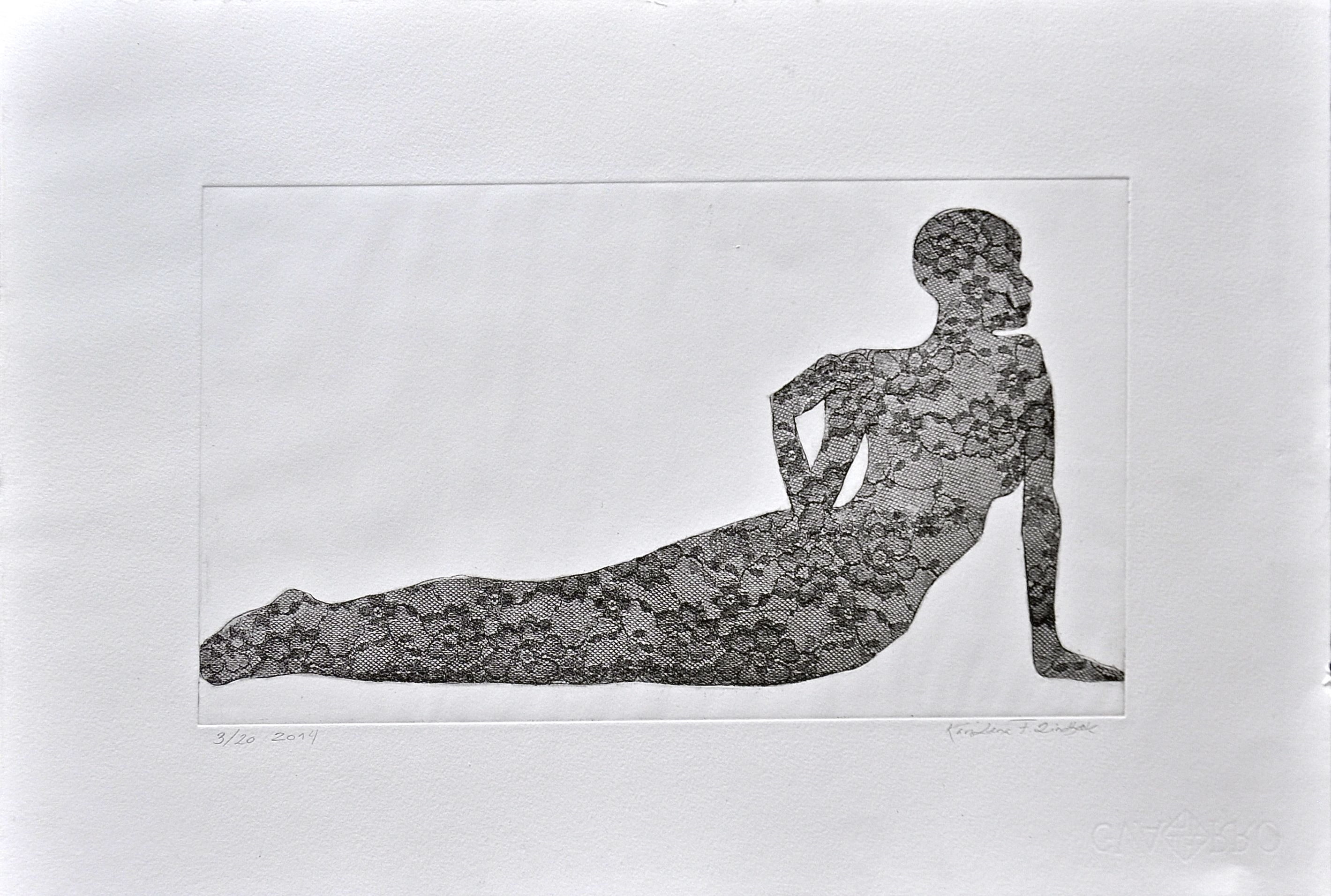 Pose, 40x25, etching